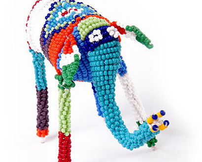 corporate gift, african craft, beaded elephant